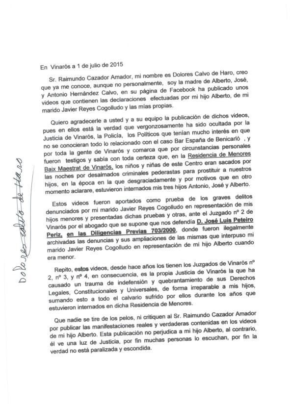 declaracion Dolores Calvo de Haro 1